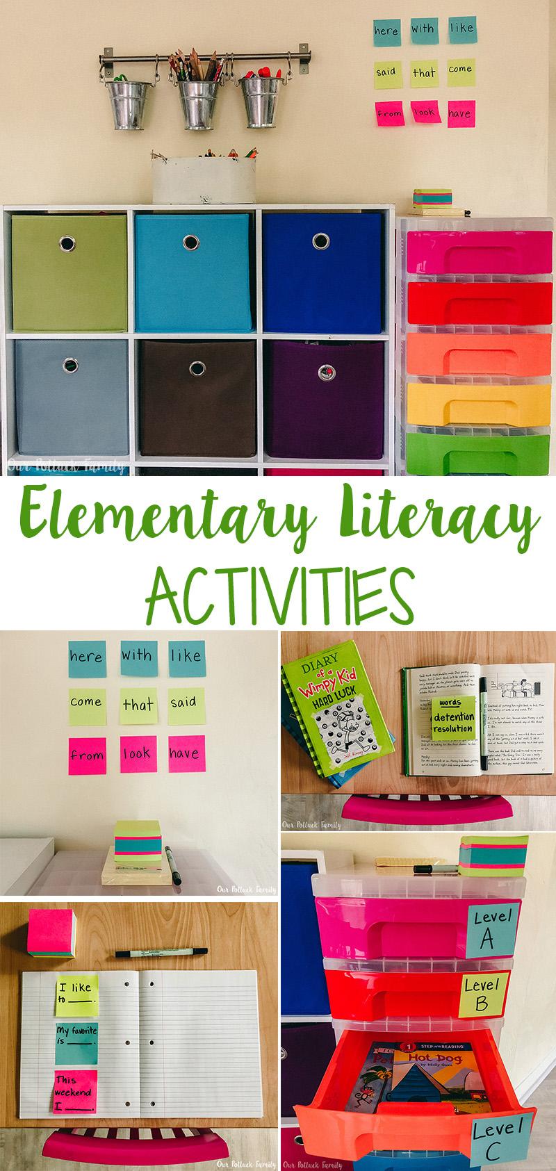 Elementary Literacy Activities