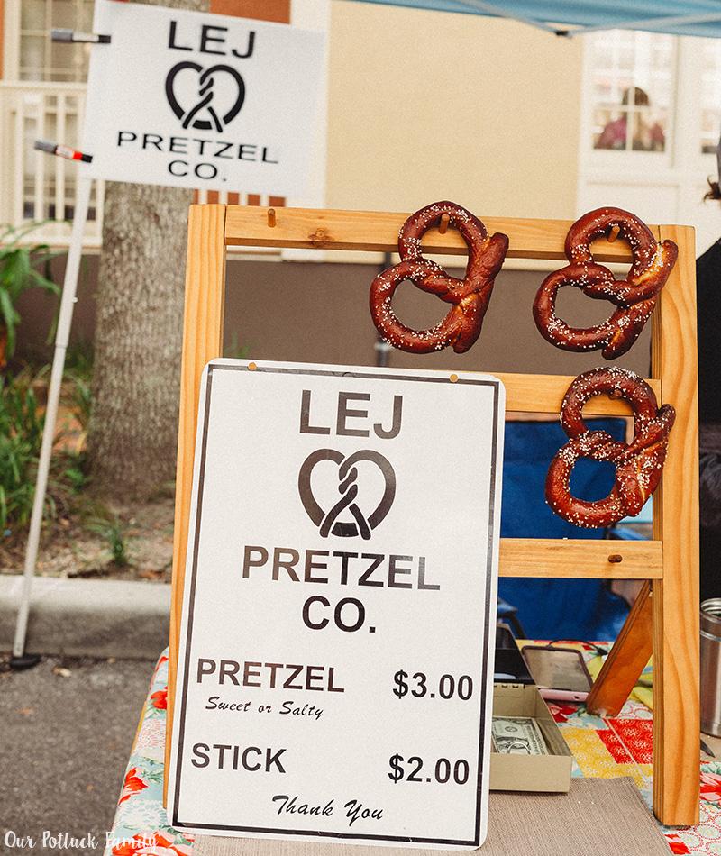 Haile Farmer's Market pretzels