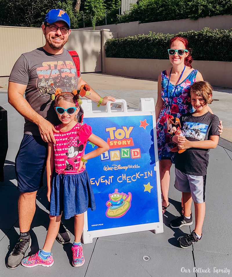 Toy Story Land Event Check-in