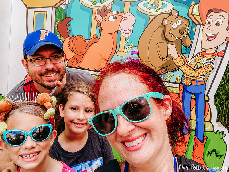 Toy Story Land Family Selfie
