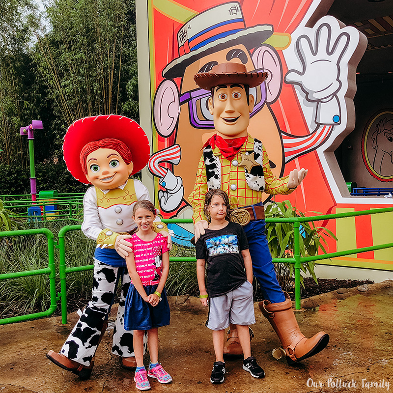 Toy Story Land Woody Jessie