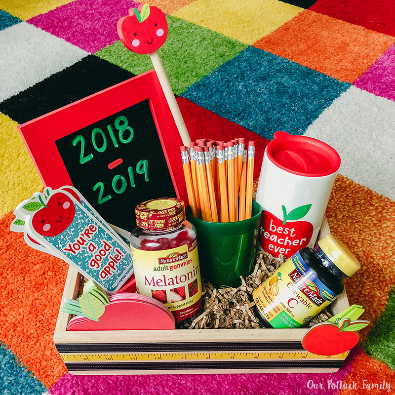 Back-to-school teacher gift assembly