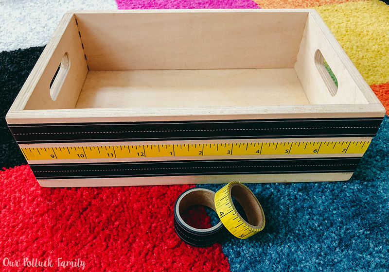 Back-to-school teacher gift crate