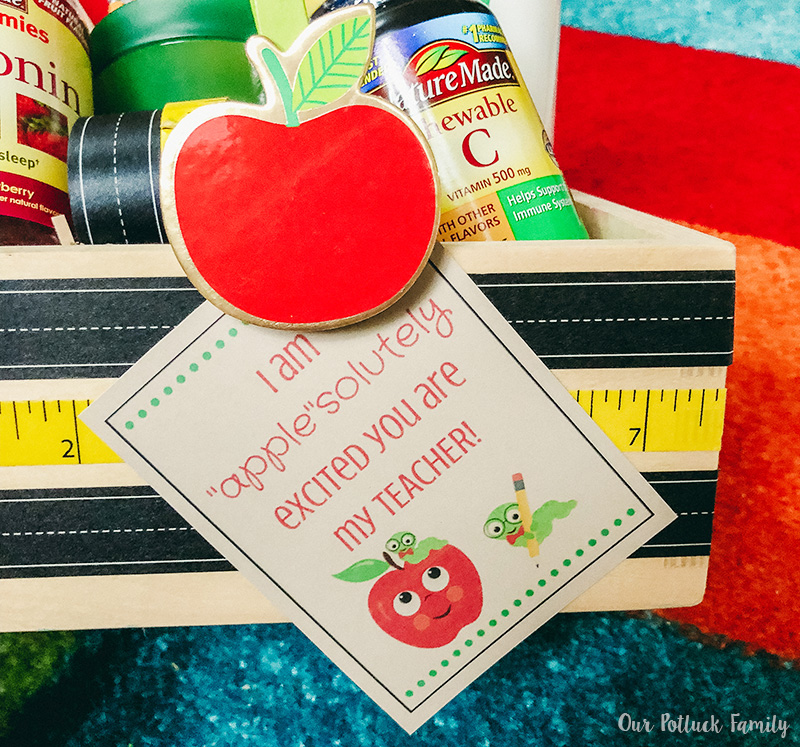 Back-to-school teacher gift gift tag