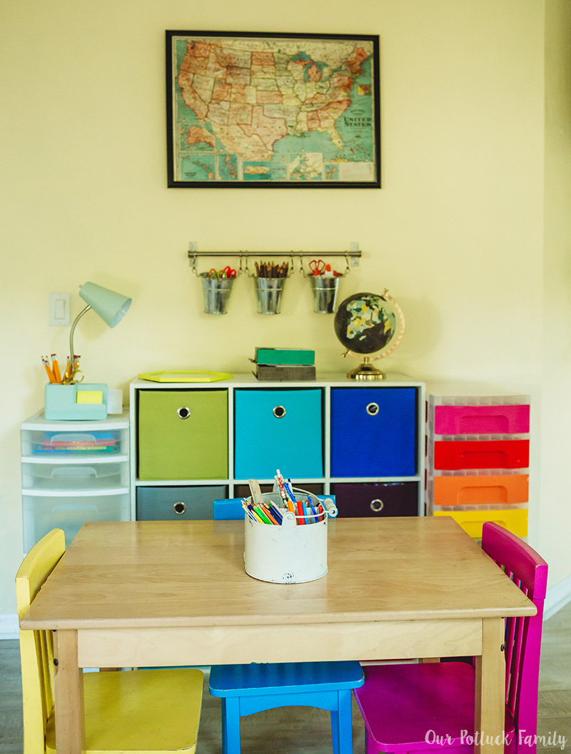 Elementary School Homework Area Setup