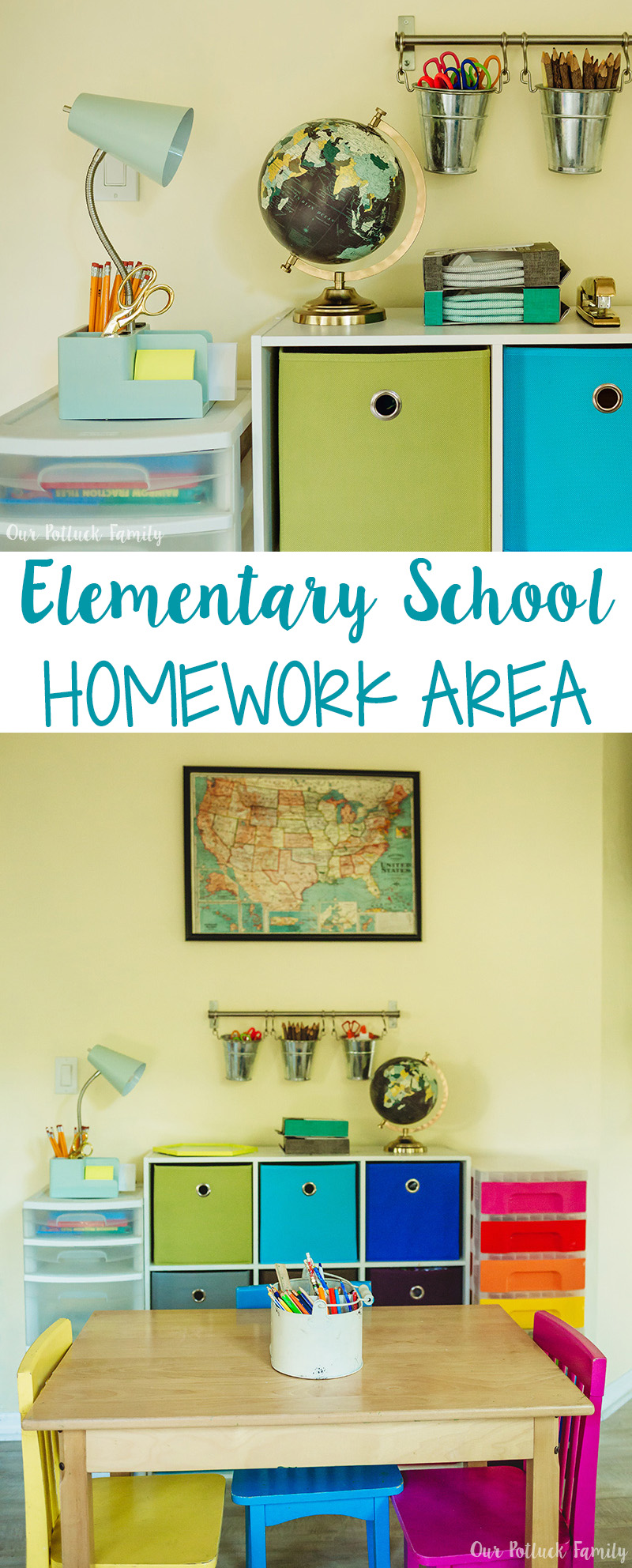 Elementary School Homework Area