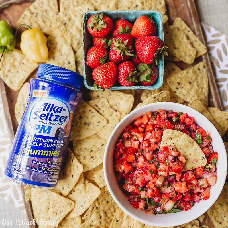 Strawberry Habañero Salsa Alka-Seltzer