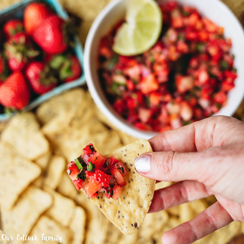 Strawberry Habañero Salsa chip