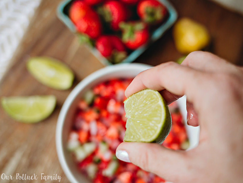 Strawberry Habañero Salsa lime