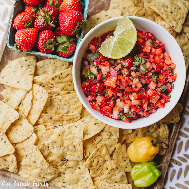 strawberry habañero salsa fruit recipe