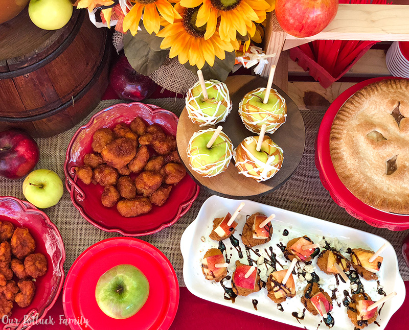 Fall Apple Party foods