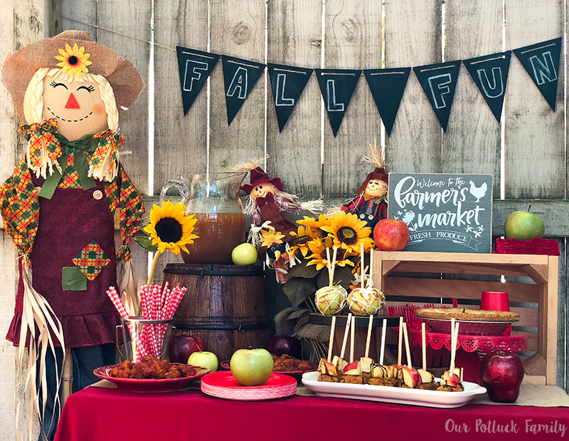 Fall Apple Party tablescape