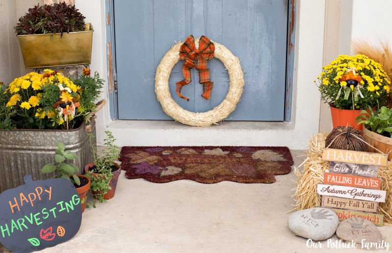 Fall Home Decorating Door