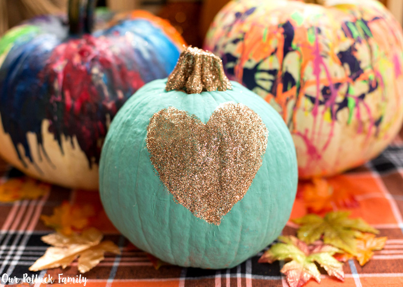 Fall Home Decorating Heart Pumpkin