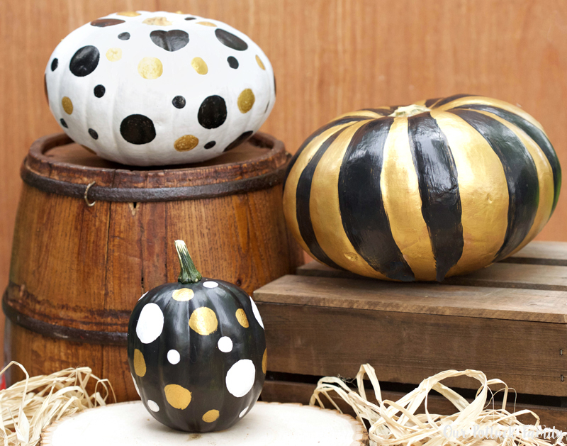 Fall Home Decorating Metallic Pumpkins