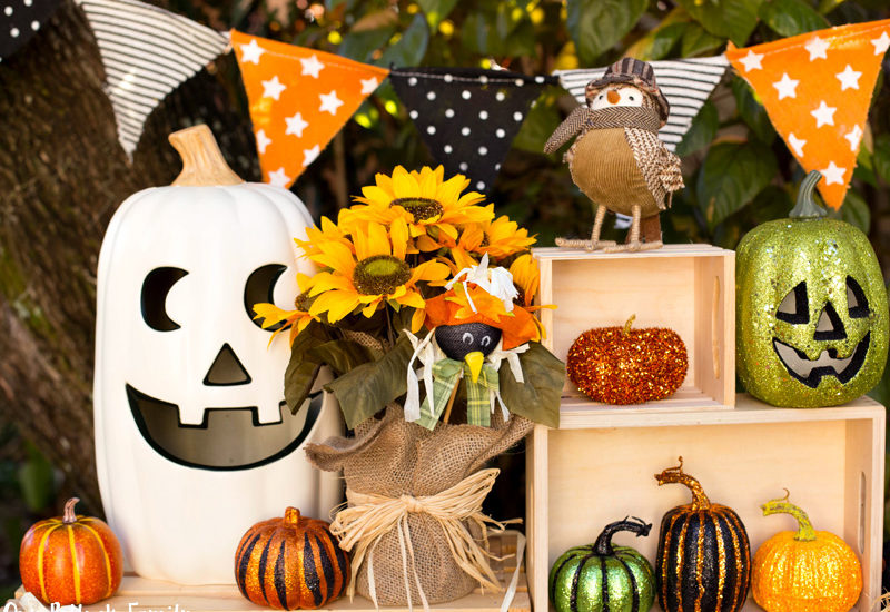 Fall Home Decorating Pumpkin Scene