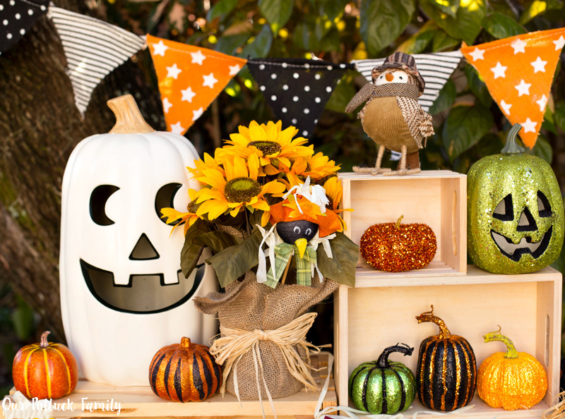 Fall Home Decorating Pumpkin Scene