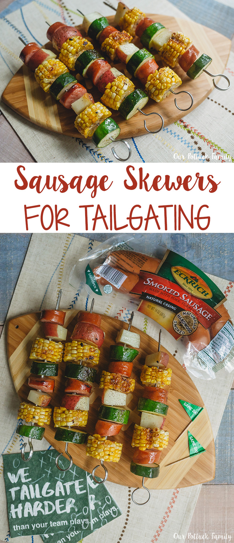 Smoked Sausage Skewers Recipe