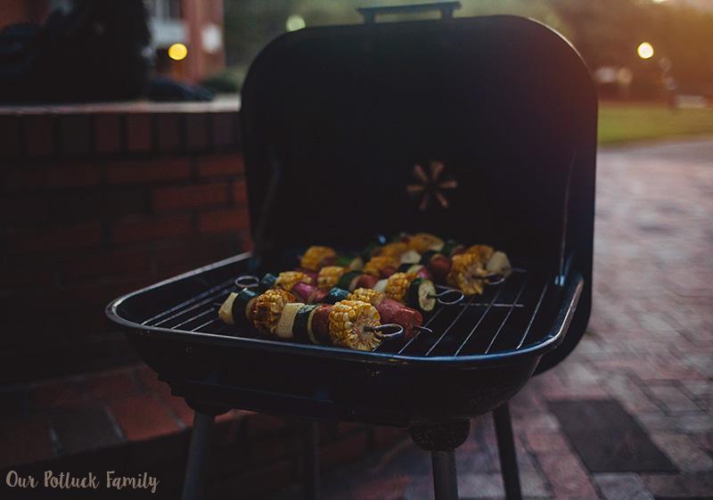Smoked Sausage Skewers grill