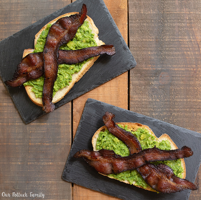 Sunday Brunch Toast bacon