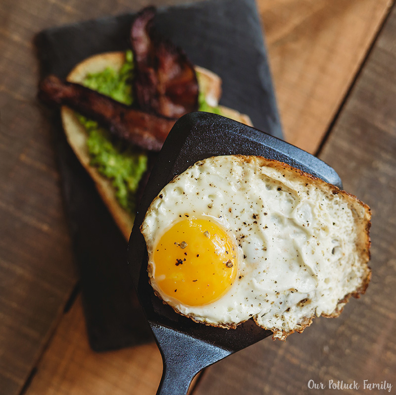 Sunday Brunch Toast fried egg