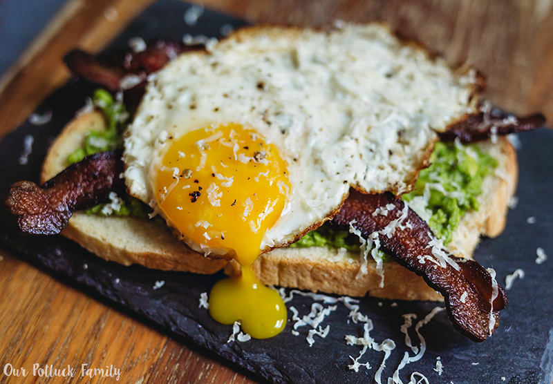 Sunday Brunch Toast yolk