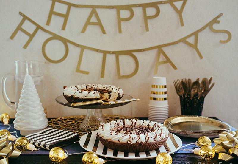 Christmas Dessert Bar table