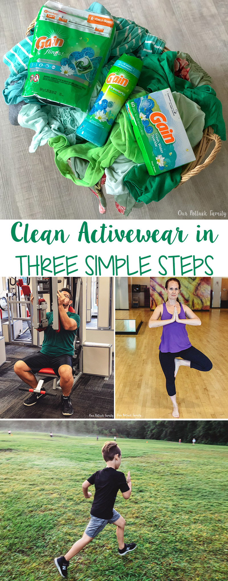 Clean Activewear in Three Simple Steps