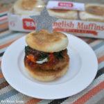Crunchy Chicken English Muffin Sandwich Recipe