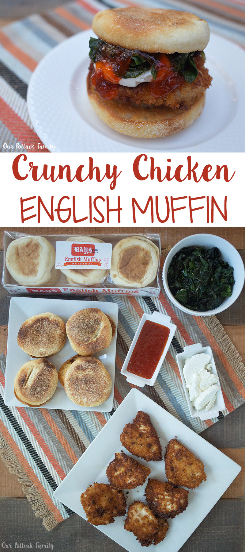 Crunchy Chicken English Muffin Sandwich
