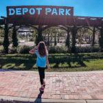 Depot Park in Gainesville, Florida