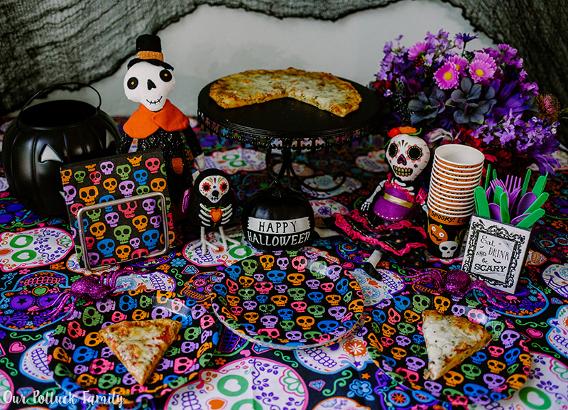 Halloween Pizza Party served