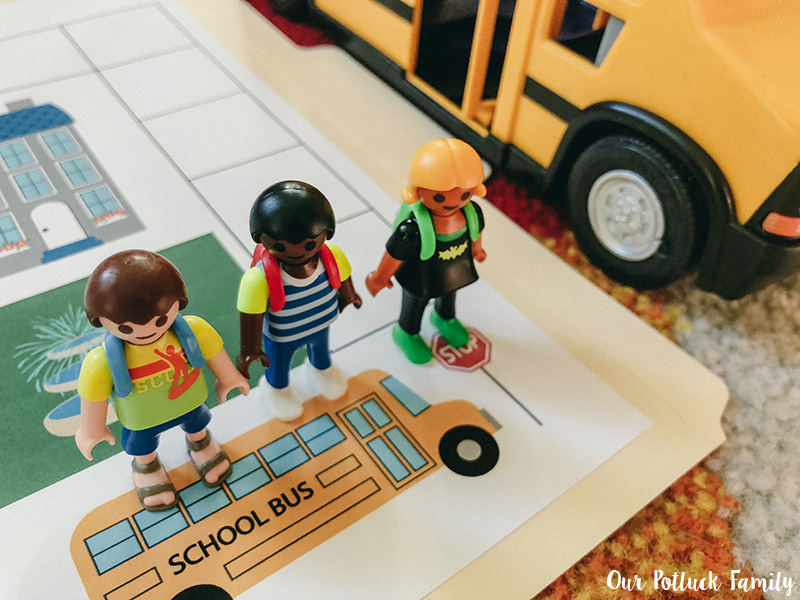 Printable School Bus Game Finish