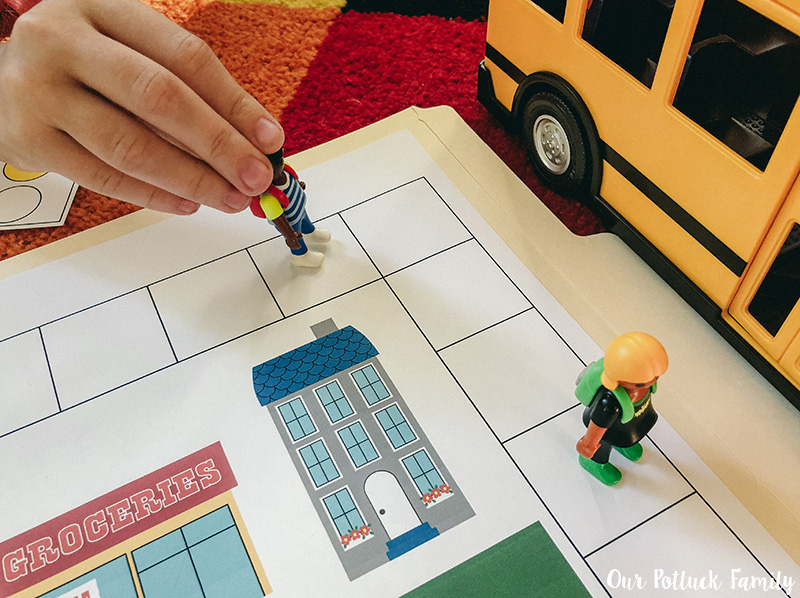 Printable School Bus Game board