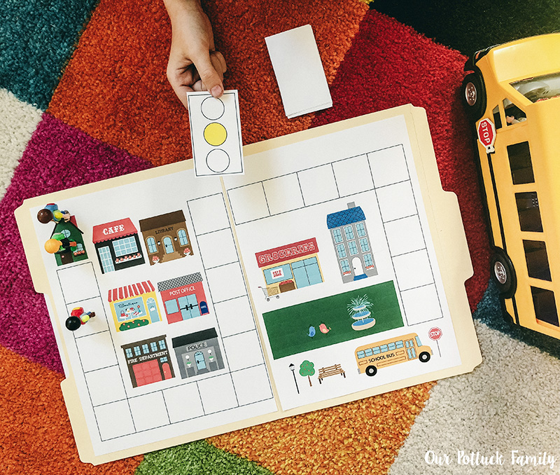 Printable School Bus Game play