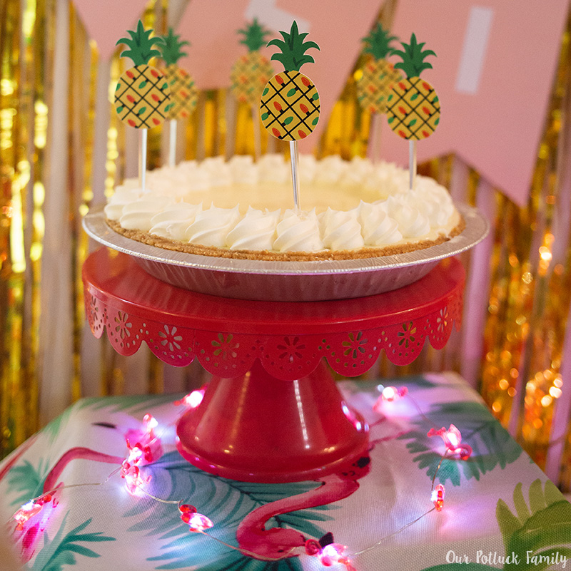 Tropical Holiday Party Key Lime Pie