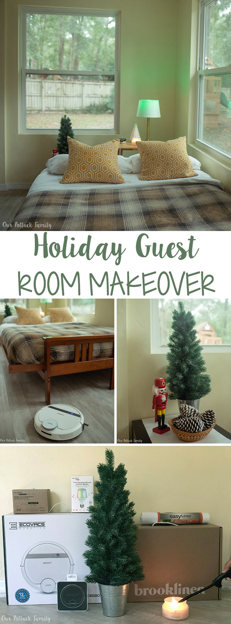 Holiday Guest Room Makeover