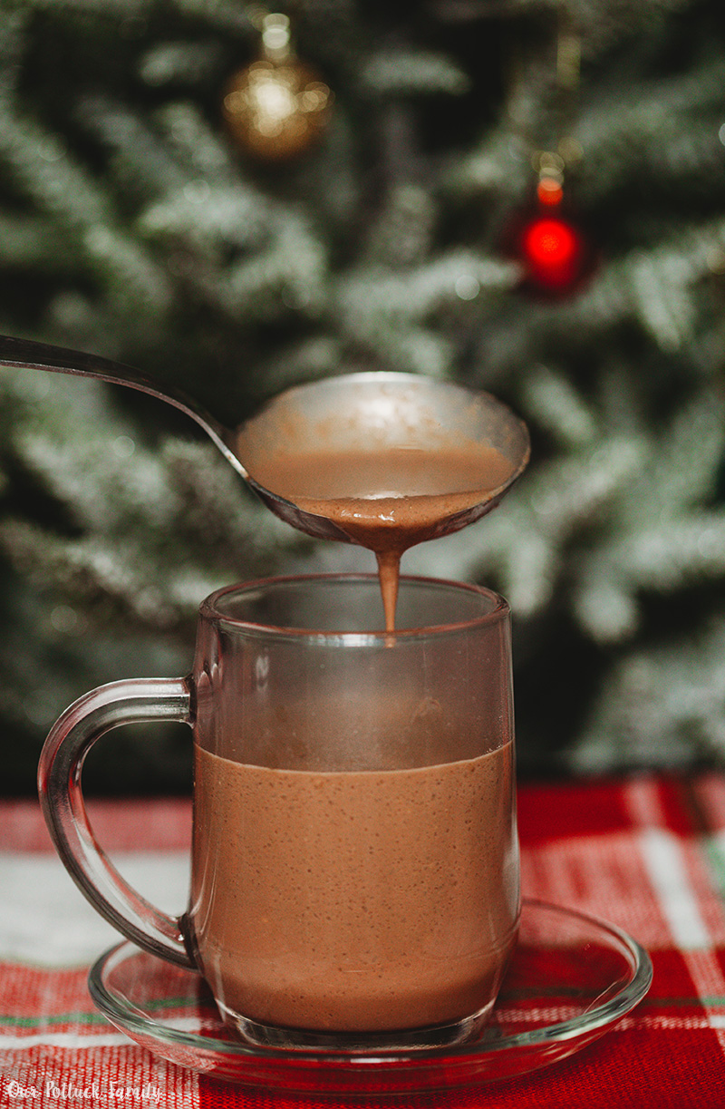 Spicy Mexican Hot Chocolate pour