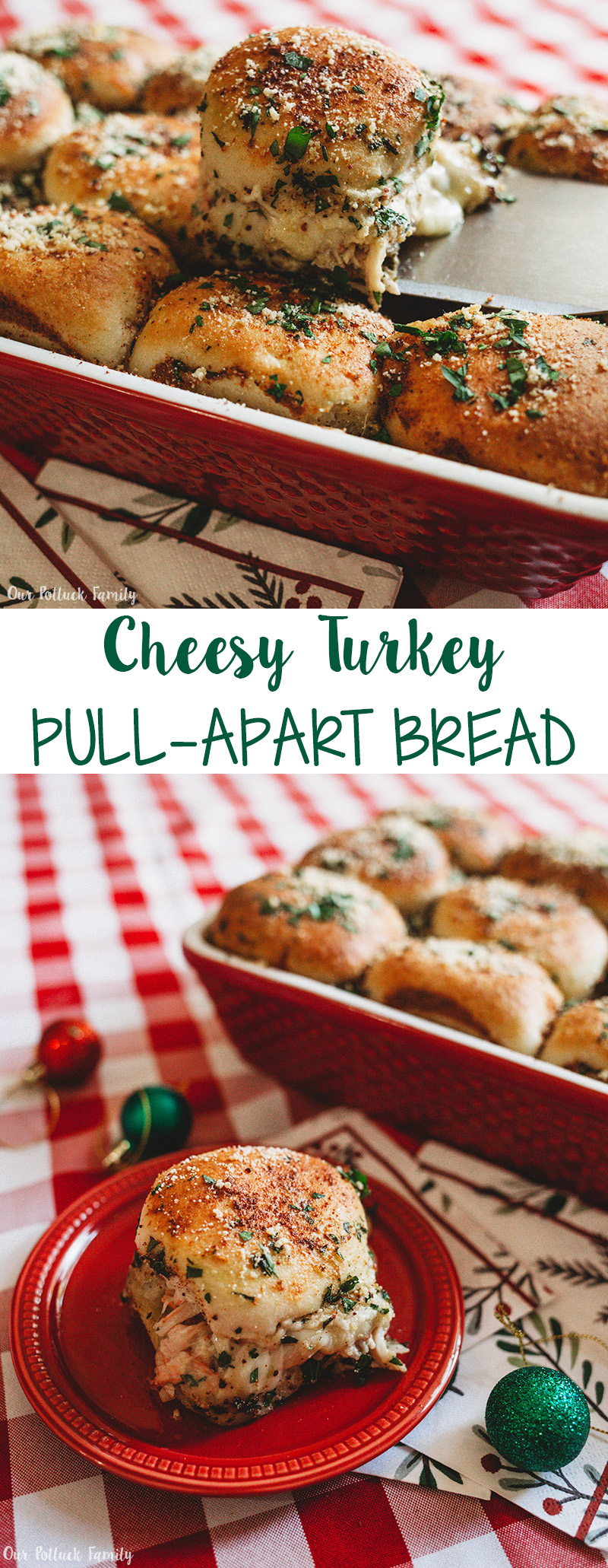 Cheesy Turkey Pull-Apart Bread
