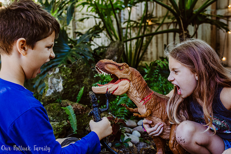 Outdoor Dinosaur Play kids