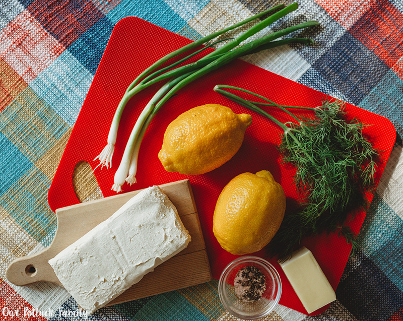 Mini Lemon Dill Cheeseball ingredients
