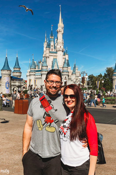 Disney Parks Birthday Vacation couple