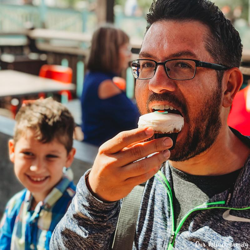 Disney Parks Birthday Vacation cupcake
