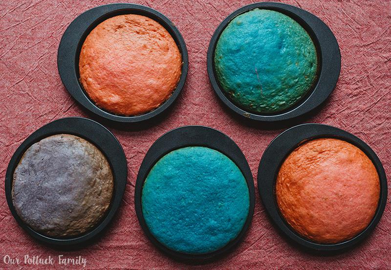 Easy Unicorn Rainbow Cake baked