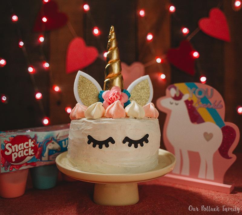 Easy Unicorn Rainbow Cake complete