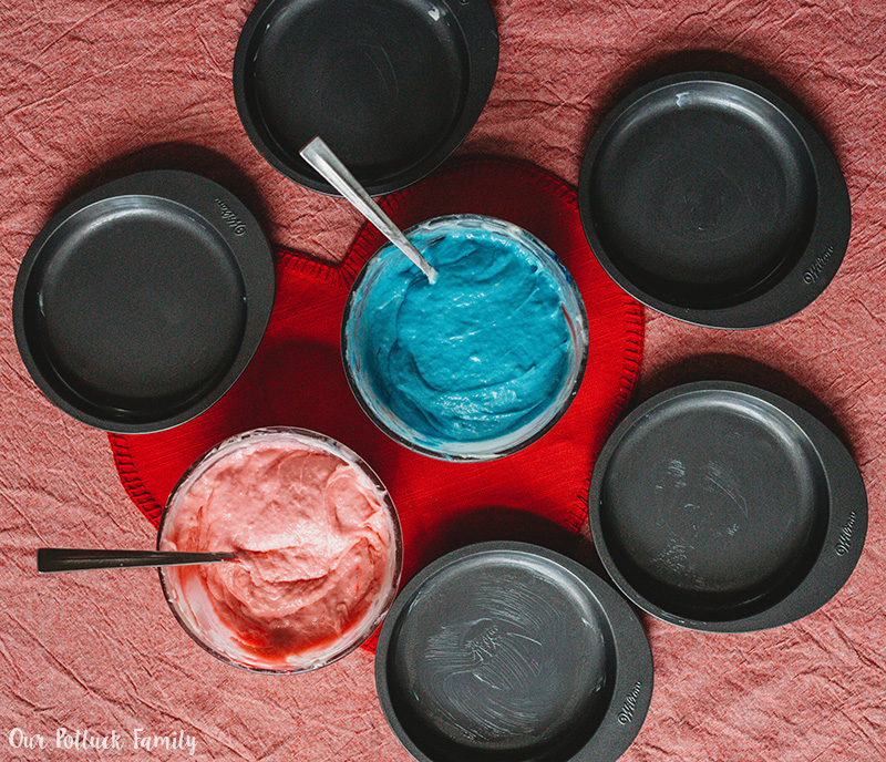 Easy Unicorn Rainbow Cake pans