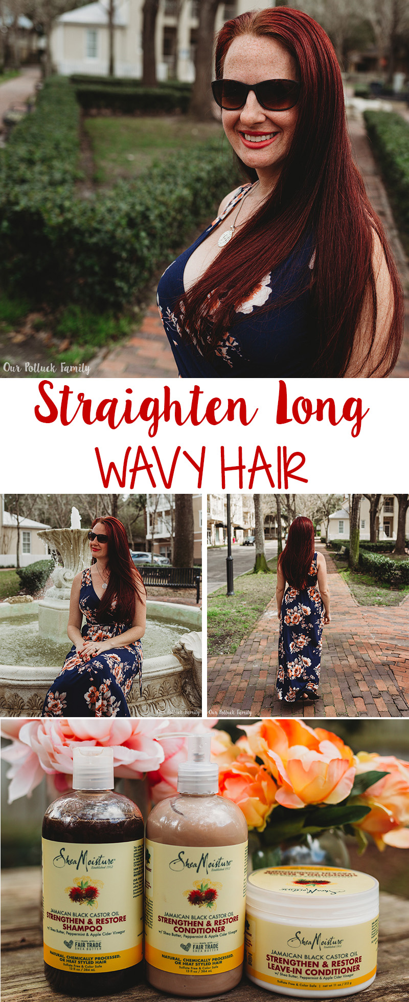 Straighten Long Wavy Hair