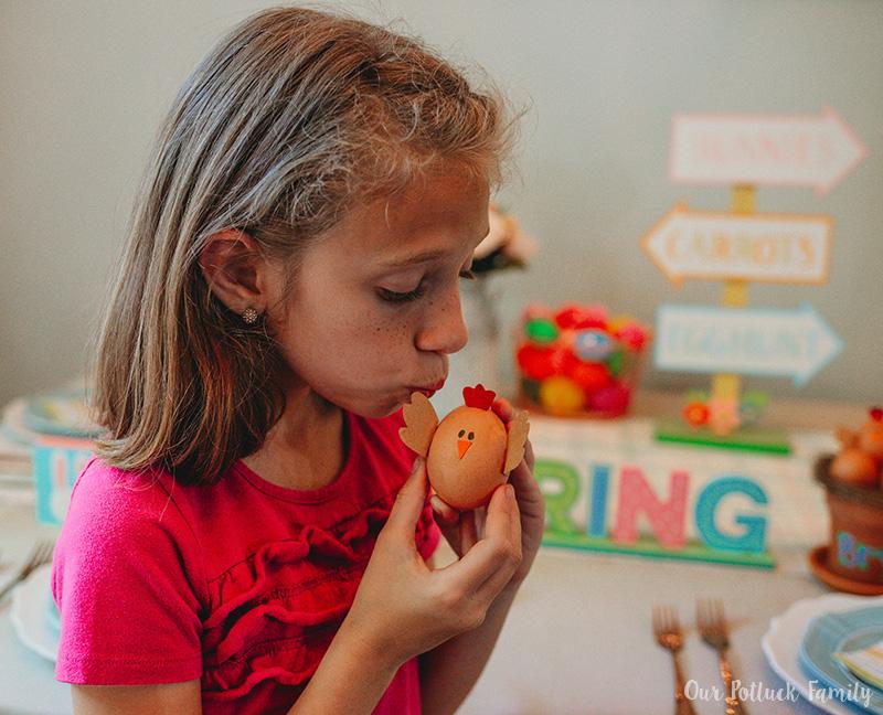 Chicken Nest Easter Egg Craft kiss
