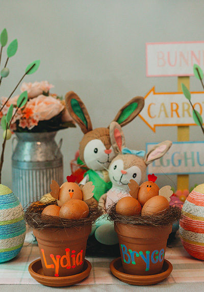 Chicken Nest Easter Egg Craft pots