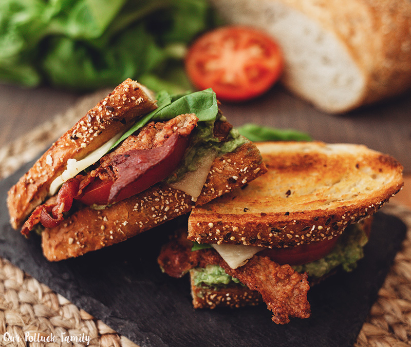 LGBTQ Sandwich sliced